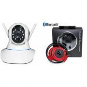 Zemini Wifi CCTV Camera and Mini 503 Bluetooth Headset for SAMSUNG GALAXY A9 PRO(Wifi CCTV Camera with night vision  Mini 503 Bluetooth Headset )