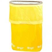 amscan Flings Sunshine Patented Pop-Up Trash Bin, 22 x 15 x 10/13 gallon, Yellow by
