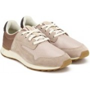 Clarks Floura Mix Nude Pink Combi Sneakers For Women(Beige, Brown)