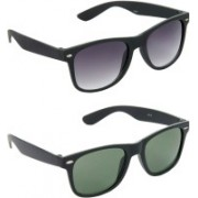Hrinkar Wayfarer Sunglasses(Grey, Green)