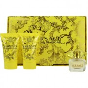 Versace Yellow Diamond lote de regalo V. eau de toilette 5 ml + leche corporal 25 ml + gel de ducha 25 ml