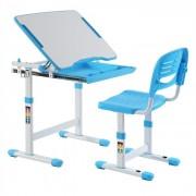 IDIMEX Ensemble bureau et chaise pour enfant ALUMNO, bleu