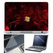 FineArts Laptop Skin 15.6 Inch With Key Guard & Screen Protector - Windows Orange Wallpaper