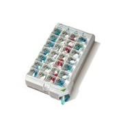 Classic caixa de medicação semanal cores sortidas - Pilbox