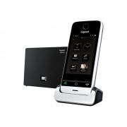 Gigaset SL910A - Téléphone sans fil - système de répondeur - interface Bluetooth avec ID d'appelant - DECTGAP - noir piano, métal