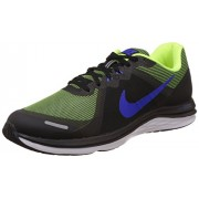 Nike Men's Dual Fusion X2 Black, Racer Blue, Bolt and White Running Shoes -10 UK/India (45 EU)(11 US)