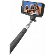 Selfie stick Trust 20497 monopied cu suport de telefon, conectare prin Bluetooth, declansator pe maner (Negru)