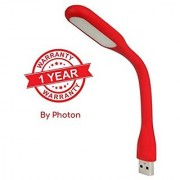 Photon Portable USB LED Flexible Lamp for laptop/ tablet With 1 Year Warranty(5V 1.2W) - Cherry Red