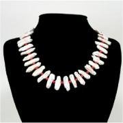 Biwa tenyésztett gyöngy nyakék, -korallal