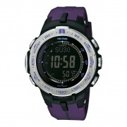 Casio PRO TREK Triple Sensor Version 3 TOUGH SOLAR Watch PRW-3100-6 - Purple