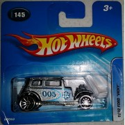 Hot Wheels 1932 Ford Vicky 2005 #145 (Silver 005 Sheriffs Badge)