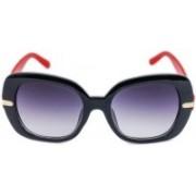 Erminio Palamino Over-sized Sunglasses(Black, Red)