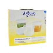 Difrax Voeding bewaarbakjes 6 stuks