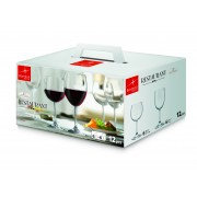Set 12 pahare Bormioli Restaurant (6 vin rosu 525 ml + 6 vin alb 425 ml)