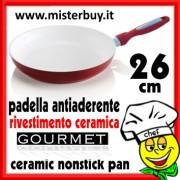 PADELLA ANTIADERENTE NANO CERAMICA GOURMET 26
