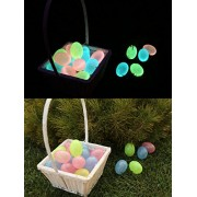 Egglo Glow in the Dark Easter Eggs (12) for Kids Easter Egg Hunt Games, Baskets, Decorations, and Cr