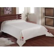 Cuvertura de pat Valentini Bianco Rustic Collection 220x240cm cu doua fete de perna de 40x40 cm Model YT048 Maro