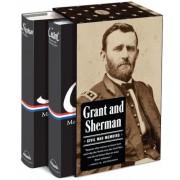 Grant and Sherman: Civil War Memoirs, Hardcover