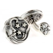 Mousie Bean Sterling Cufflinks Moon 159