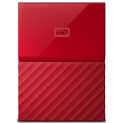 "HDD Extern Western Digital My Passport Slim, 2TB, USB 3.0, 2.5"" (Rosu)"