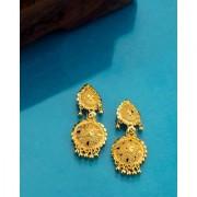 Voylla Eastern Delight Layered Drop Earrings