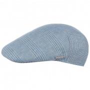 Stetson Casquette Plate en Lin Sussex bleu clair