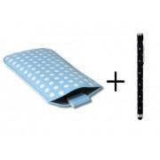 Polka Dot Hoesje voor Huawei Ascend G510 met gratis Polka Dot Stylus, Blauw, merk i12Cover