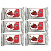 GINNI CLEA WIPES Cleansing Makeup Remover Strawberry Pack of 6 10 Per Pack