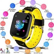 OUYAWEI Electronics Q12B Reloj inteligente para niños, reloj inteligente para Android, iOS vida, impermeable, LBS, posicionamiento, tarjeta SIM 2G, llamada a diario