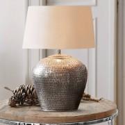 LOBERON Tafellamp Penelope / antiekzilverkleurig/crème