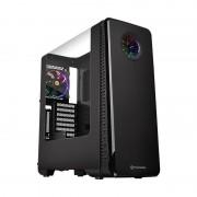 Carcasa View 28 RGB Riing Edition, MiddleTower, Fara sursa, Negru