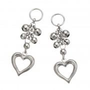 18K ハート&ミラーボール デザイン チャーム【QVC】40代・50代レディースファッション
