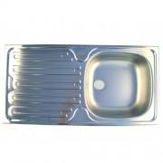 CHIUVETA INOX PE BLAT RIN (INCLUDE VENTIL SI PREAPLIN) L86x43.5cm STANGA