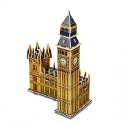 Houlwond The London Big Ben World Great Architecture 3D Puzzles DIY Toys for Children and Adult Jigsaw Puzzle