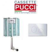 Pucci Cassetta Di Scarico Da Incasso Modello Pucci Eco Completa Di Placca Eco Ellisse Bianca