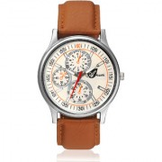 Arum Latest Design In Brown Leather Watch AW-060