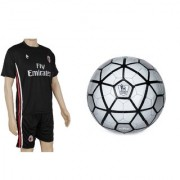 Combo of Strike Silver Football (Size-5) with Suit (Jersey + Shorts)