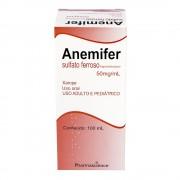 Anemifer Sulfato Ferroso 50mg/ml Xarope Com 100ml