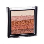 Makeup Revolution London Shimmer Brick Blush illuminante 7 g tonalità Bronze Kiss