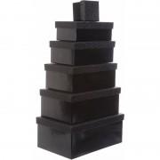 Merkloos Cadeau gift box zwart 24 x 15 en goudkleurig kadolint
