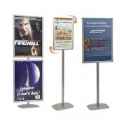 Edimeta Porte-affiches Cadro-Clic® 70 x 100 cm sur pied H 180 cm