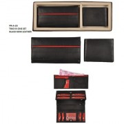 PR-A-023 TWO IN ON SET BLACK NDM LEATHER LOVE BIRDS HUBBY-WIFE/GF-BF(ASSORTED COLOUR)SET OF 2