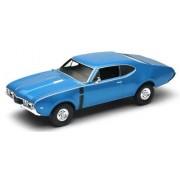 Welly 1:43 Scale Oldsmobile 442 1968 (Metallic Blue)
