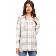O'Neill Gretchen Button Down Blouse Moonbeam