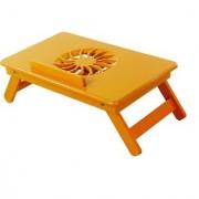 IBS Heavy Duty Kids Office Study Reading Adjustable Wooden Orange Wwood Portable Laptop Table (Finish Color - Orange)