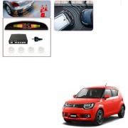 Auto Addict Car White Reverse Parking Sensor With LED Display For Maruti Suzuki Ignis