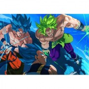 canon broly vs vegeta and goku sticker poster|dragon ball z poster|anime poster|size:12x18 inch|multicolor