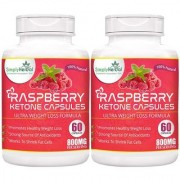 Simply Herbal Raspberry Ketones Garcinia Cambogia Green Tea Extract Weight Loss Supplement 800mg 60 Capsules(Pack of 2