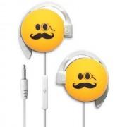 Start Auricolare A Filo Stereo Smile-04 Headphones Jack 3,5mm Universale Per Musica Yellow Per Modelli A Marchio Tim