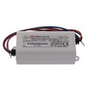 Transformator Sursa Profesionala de tensiune constanta Mean Well APV-12-12 IP20 230V la 12V 1A 12W